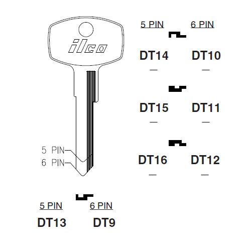 Ilco DT10 Key Blank : Nissan