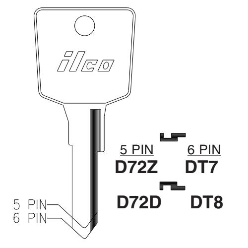 Ilco D72Z Key Blank : Nissan
