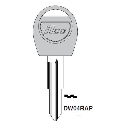 Ilco  DW04RAP Daewoo Plastic Head Key Blank : Daewoo