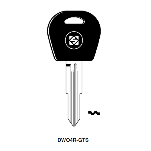 Ilco DW04R-GTS Chipless Key Blank; GM