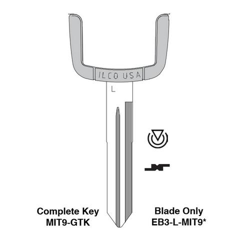 Ilco EB3-L-MIT9 Mitsubishi Electronic Key Blade Only