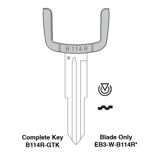 Ilco EB3-W-B114R GM Electronic Key Blade Only