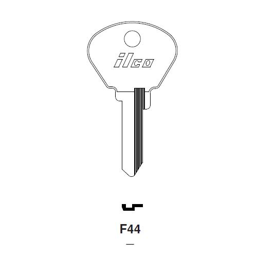 Ilco F44 Key Blank : Alfa Romeo, Fiat, Autobianchi, Fiat