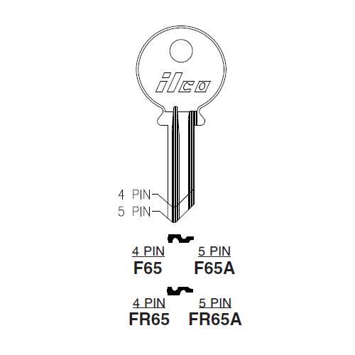 Ilco F65A Key Blank : Skoda