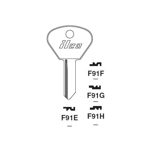 Ilco F91H Key Blank : Alfa Romeo, Aotobianchi