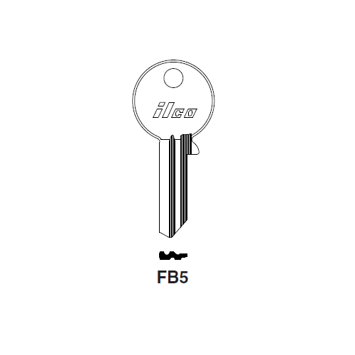 Ilco FB5 Key Blank : Skoda