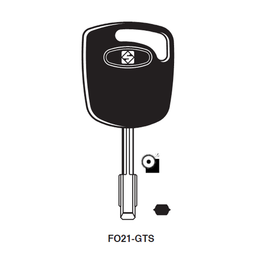 Ilco FO21-GTS Chipless Key Blank; Ford