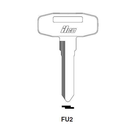 Ilco FU2 Key Blank : Mitsubishi