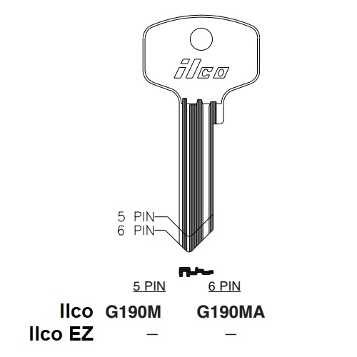 Ilco G190M Key Blank : General - 100-A800