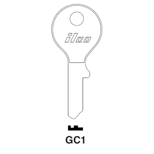 Ilco GC1 Key Blank : Gas Cap Lock