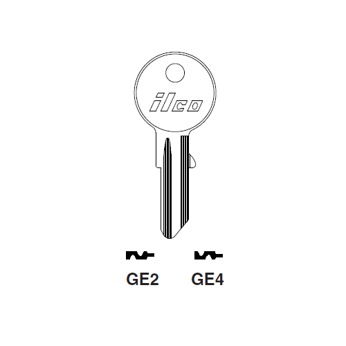 Ilco GE2 Key Blank : Puch-Sears, Gege