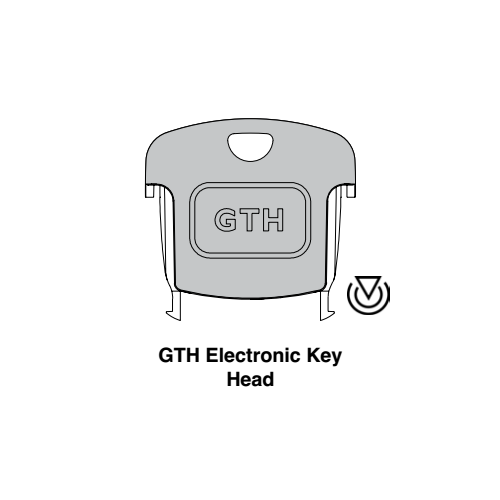 Ilco GTH Transponder Key Blank; Modular Head Cloneable