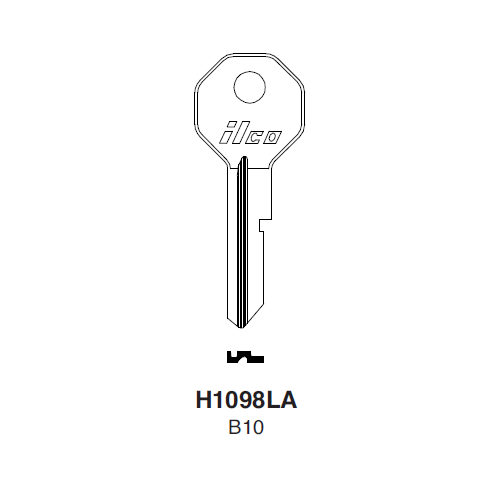 Ilco H1098LA (B10) Key Blank : General Motors