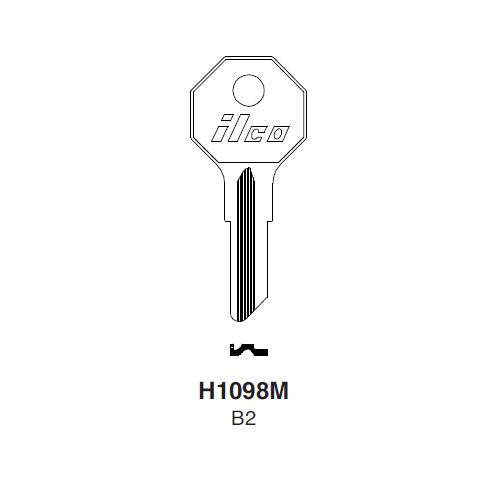 Ilco H1098M (B2) Key Blank : General Motors