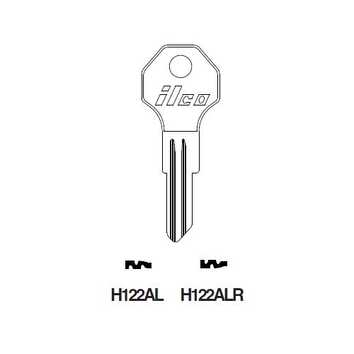 Ilco H122ALR Key Blank : Kaiser Fraiser