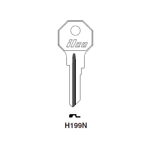 Ilco H199N Key Blank : Renault