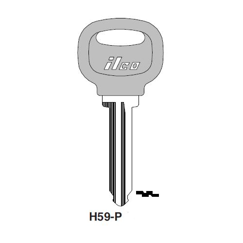 Ilco  H59-P Ford Plastic Head Key Blank; ( H59,  X202 )