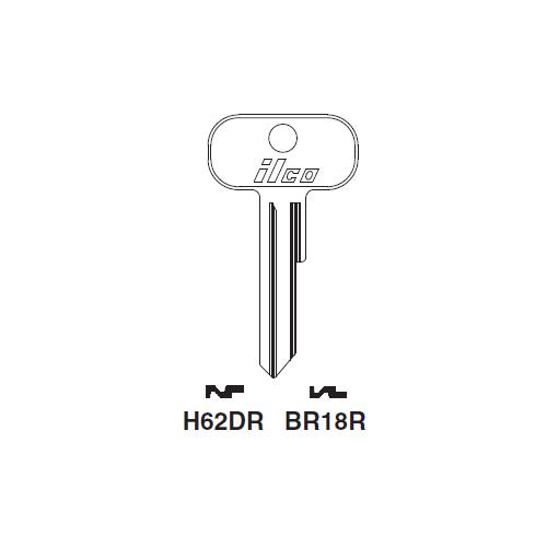 Ilco H62DR Key Blank : British Leyland, Van Guard, Vauxhall