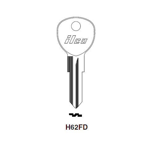 Ilco H62FD Key Blank : Ford International, VW