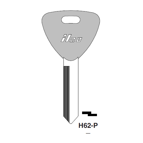 Ilco  H62-P Ford Plastic Head Key Blank; ( H62,  1191ET )