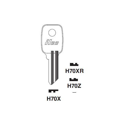 Ilco H70Z Key Blank : Honda Motorcycles