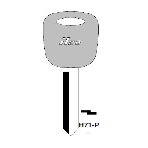 Ilco  H71-P Ford Plastic Head Key Blank; ( H71,  1195FD )