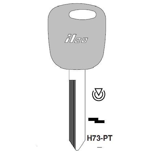 Ilco H73-PT Transponder Key Blank; Ford