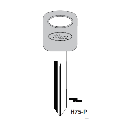 Ilco  H75-P Ford Plastic Head Key Blank; ( H75,  1196FD )
