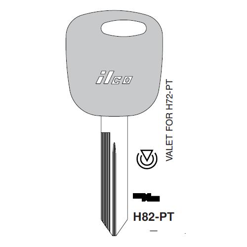 Ilco H82-PT Transponder Key Blank; Ford