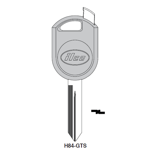 Ilco H84-GTS Chipless Key Blank; FORD