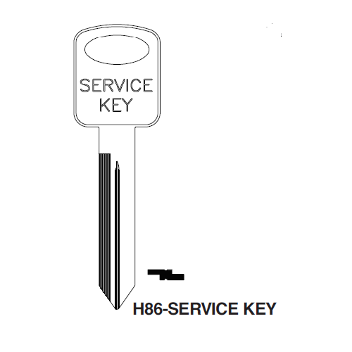 Ilco H86-Service Key Blank : Ford