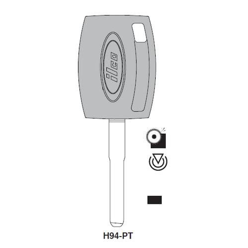 Ilco H94-PT Transponder Key Blank; Ford
