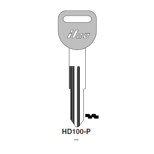 Ilco  HD100-P Acura Plastic Head Key Blank; ( HD100,  X205 )