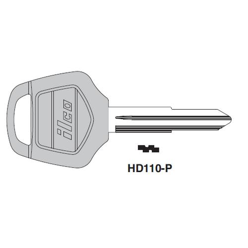 Ilco  HD110-P Honda Motorcycles, Kymco Plastic Head Key Blank