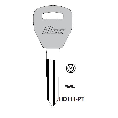 Ilco HD111-PT Transponder Key Blank; Acura