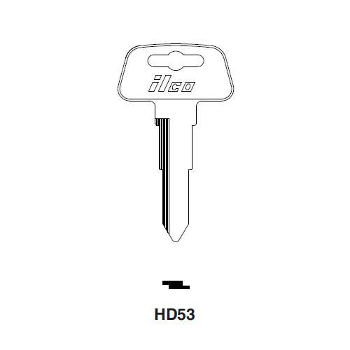 Ilco HD53 Key Blank : Honda Motorcycles