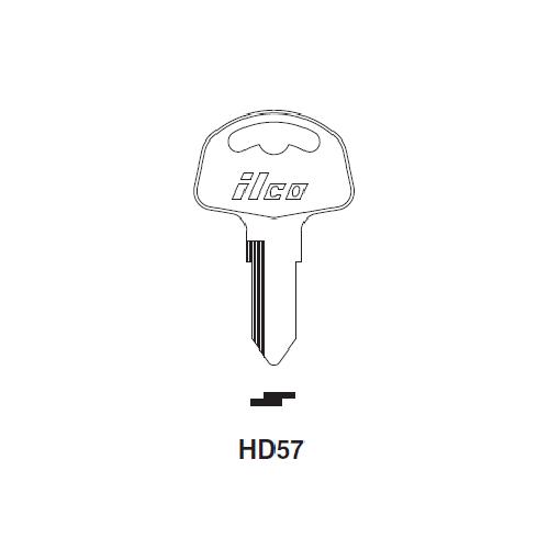 Ilco HD57 Key Blank : Cagiva, Honda Motorcycles
