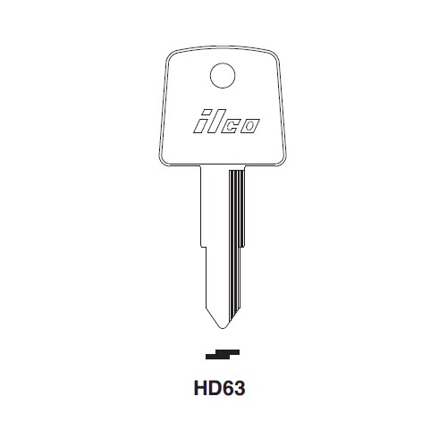 Ilco HD63, HD63-P Key Blank : Honda Motorcycles