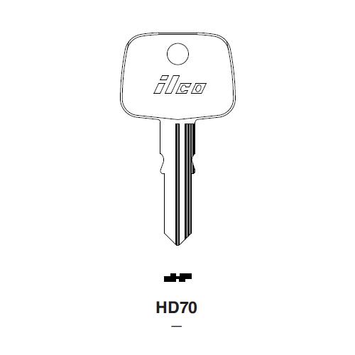 Ilco HD70 Key Blank : Honda Automobiles