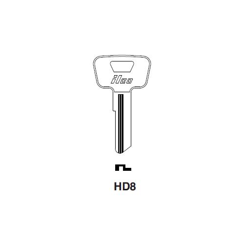 Ilco HD8 Key Blank : Honda Motorcycles