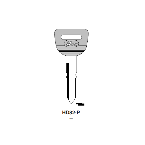 Ilco  HD82-P Honda Automobiles Plastic Head Key Blank; ( HD82,  X129 )