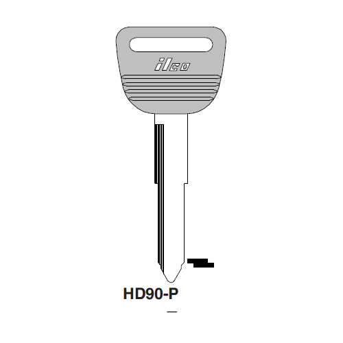 Ilco  HD90-P Honda Automobiles Plastic Head Key Blank; ( HD90,  X181 )