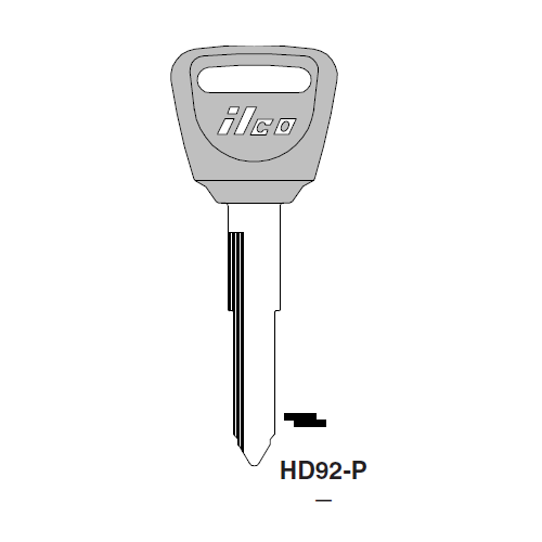 Ilco  HD92-P Acura Plastic Head Key Blank; ( HD92,  X183 )