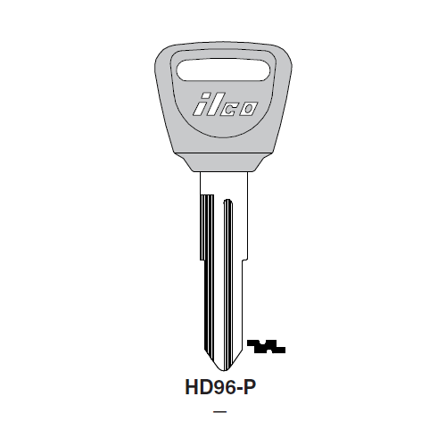 Ilco  HD96-P Acura Plastic Head Key Blank; ( HD96,  X193 )