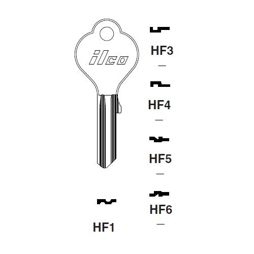 Ilco HF1 Key Blank : Mercedes Benz