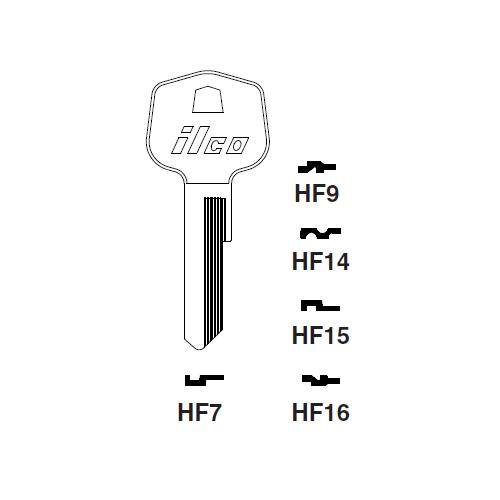 Ilco HF9 Key Blank : Mercedes Benz