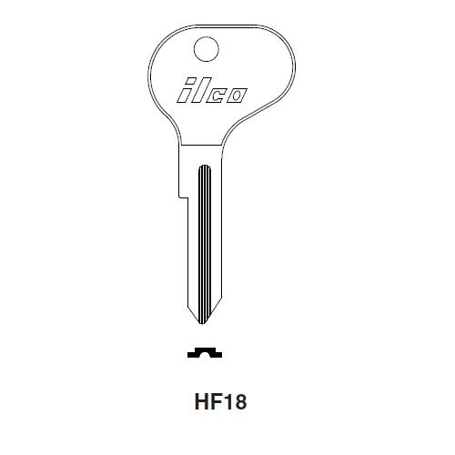 Ilco HF18 Key Blank : Nissan