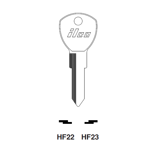 Ilco HF23 Key Blank : Ford International