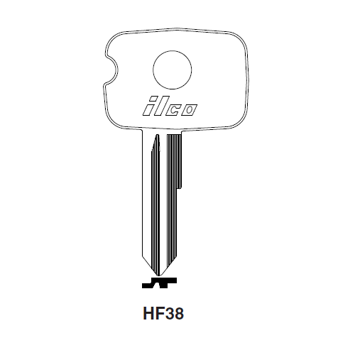 Ilco HF38 Key Blank : Opel