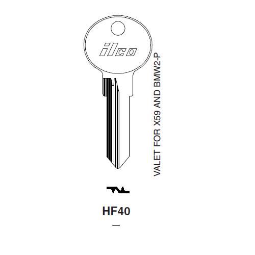 Ilco HF40 Key Blank : BMW
